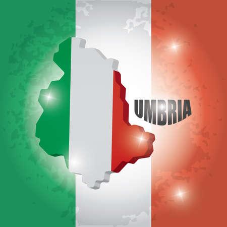 Umbria map Ilustrace