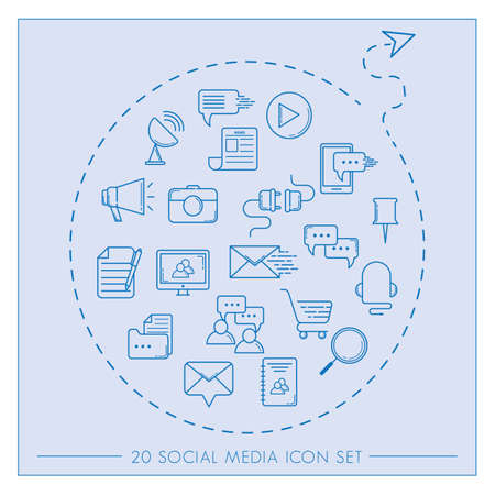set of social media icons 版權商用圖片 - 106668072