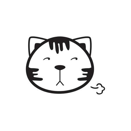 A cat illustration. Vetores
