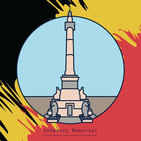 Infantry memorial Illusztráció