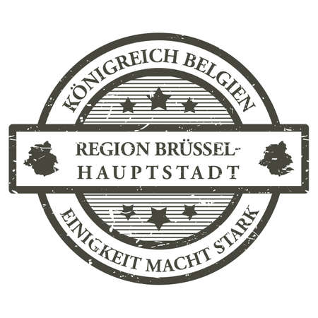 Region brussel hauptstadt rubber stamp