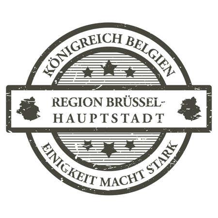 Timbro di gomma di regione brussel hauptstadt Archivio Fotografico - 81589684