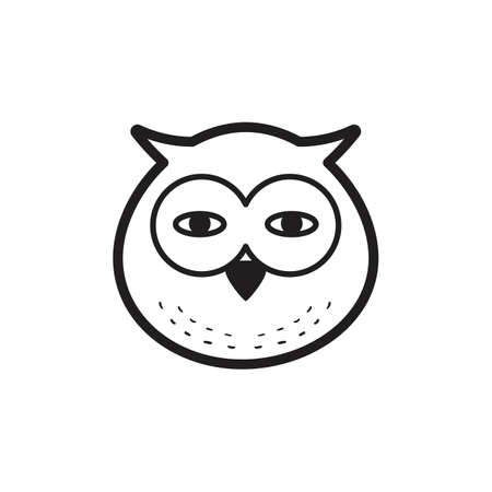 An owl illustration. Çizim