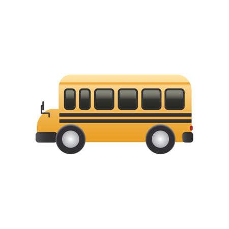 Une illustration de bus. Vecteurs