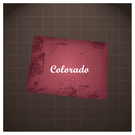 colorado staat kaart Stock Illustratie