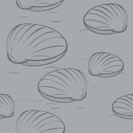 fondo de patrón de conchas marinas Ilustración de vector