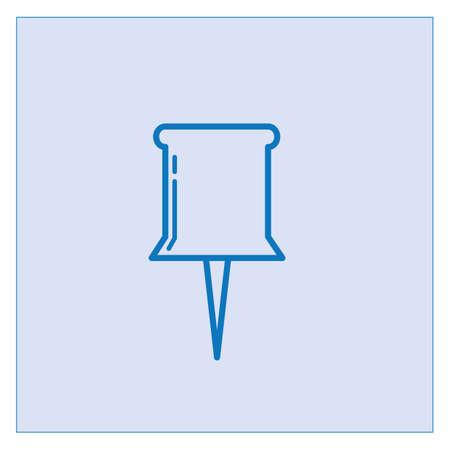 push pin icon 向量圖像
