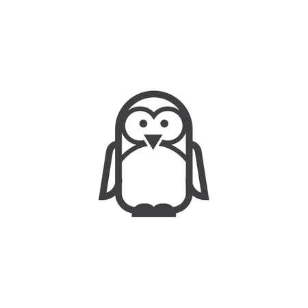 ペンギンのイラスト。