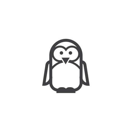 Een pinguin illustratie. Stock Illustratie