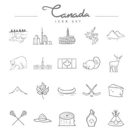 canada icon set Ilustrace
