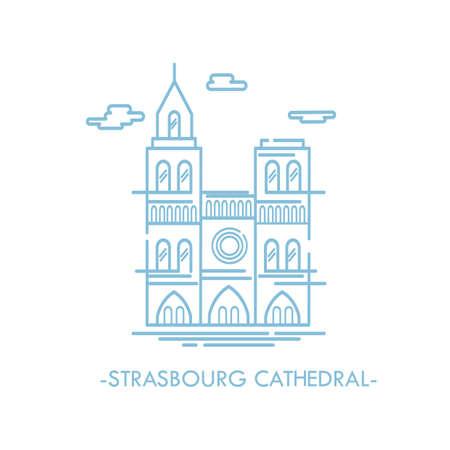 strasbourg cathedral Illustration