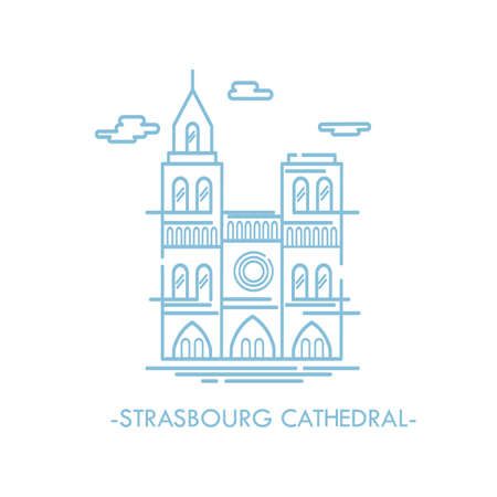 strasbourg cathedral Ilustrace