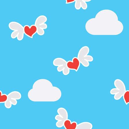 seamless valentine pattern background Stock Vector - 106668120