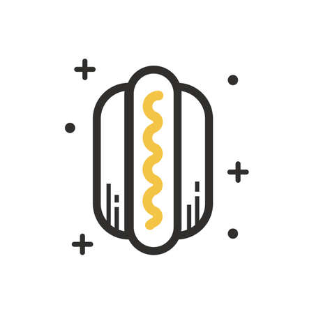 A hot dog illustration. 版權商用圖片 - 81534071