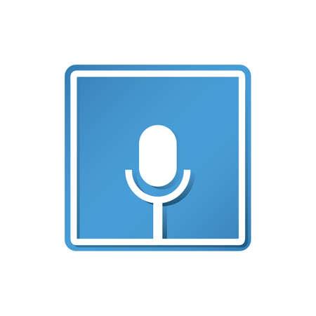 Voice recorder icoon Stockfoto - 81535233