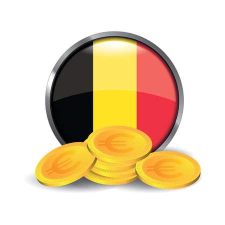 Euro coins 向量圖像