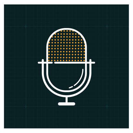 voice recorder: A voice recorder icon illustration. Illustration
