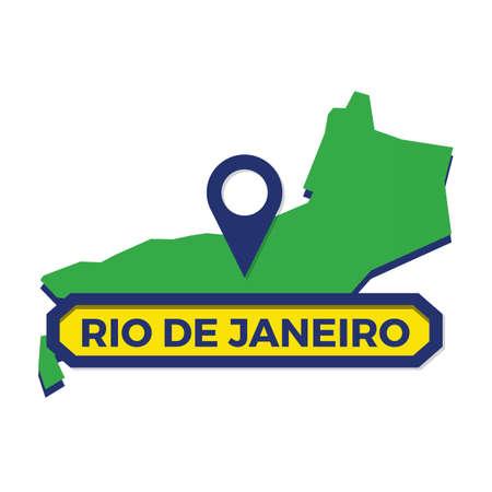rio de janeiro map with map pin