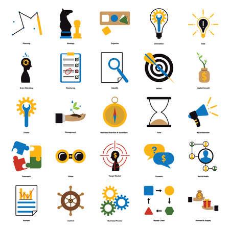 Verzameling van zakelijke iconen Vector Illustratie
