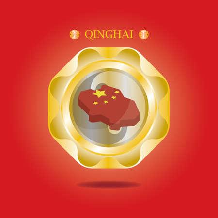 mapa de qinghai