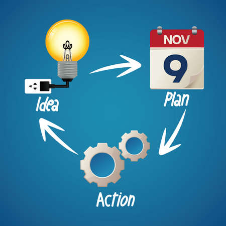 Bedrijfsstrategie concept Stock Illustratie