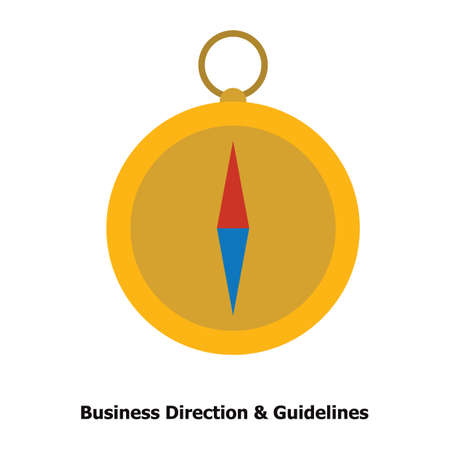 business direction and guidelines concept