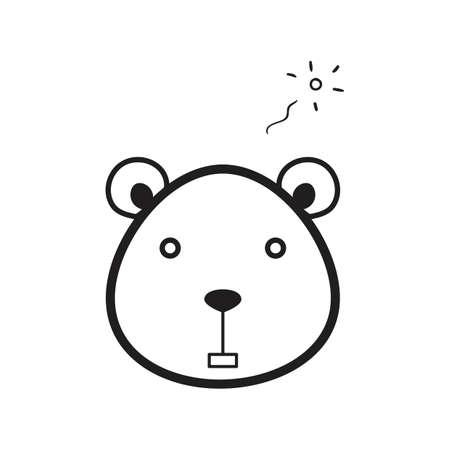 A bear illustration. Фото со стока - 81534075