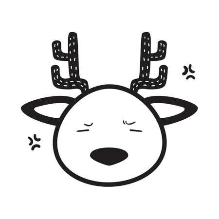 鹿のイラスト。