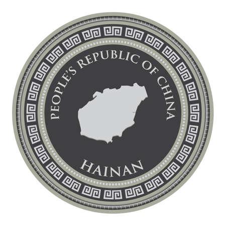hainan map  イラスト・ベクター素材