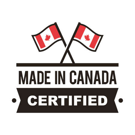authenticity: Made in canada label Illustration