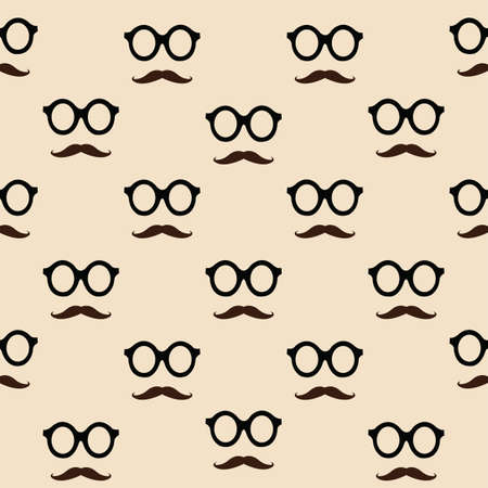 mustaches and glasses pattern background