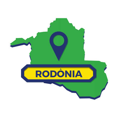 rondonia map with map pin