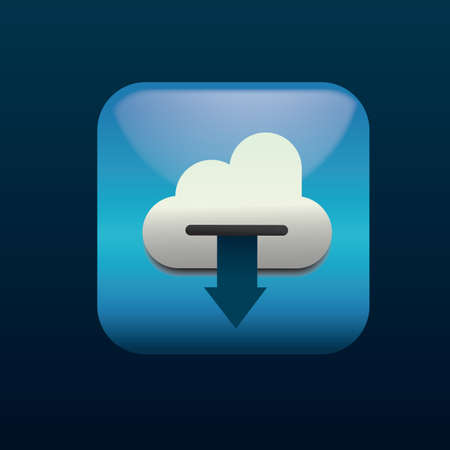 cloud computing download icon Illustration