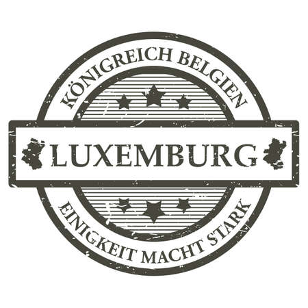 macht: Luxembourg rubber stamp Illustration
