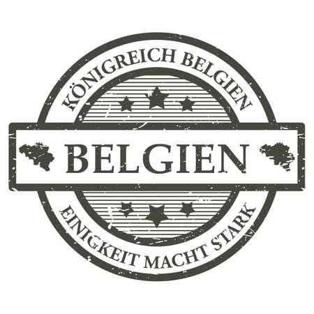 Belgien rubber stamp