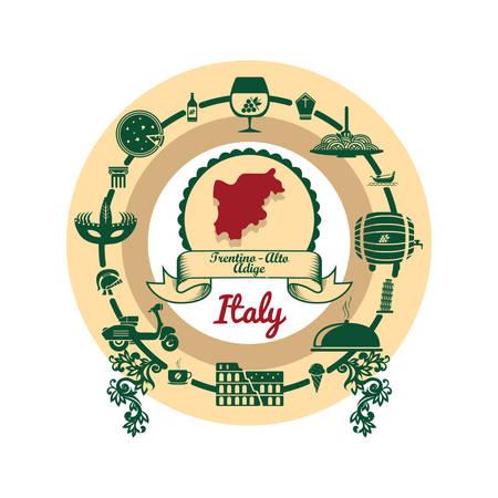 trentino-alto adrige map label