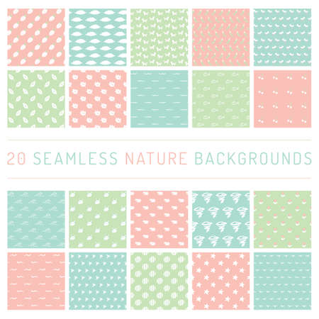 A seamless nature backgrounds illustration. Illustration