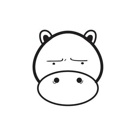 A hippopotamus illustration. Illustration