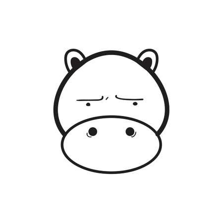 základní: A hippopotamus illustration. Ilustrace