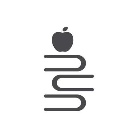 appel met stapel boeken