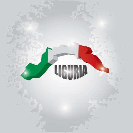Liguria map