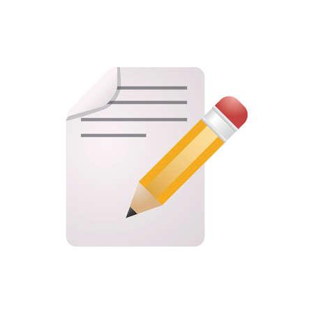 lápiz y documento