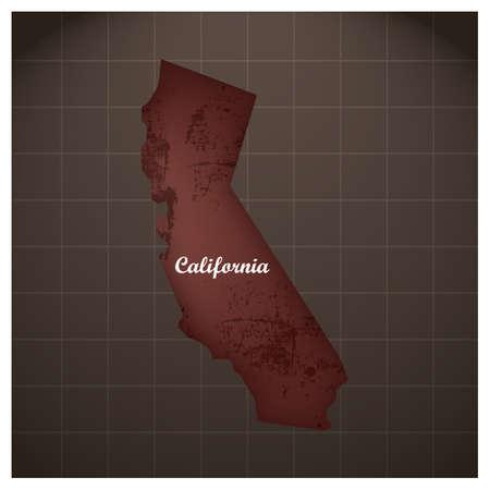 california state map Illusztráció