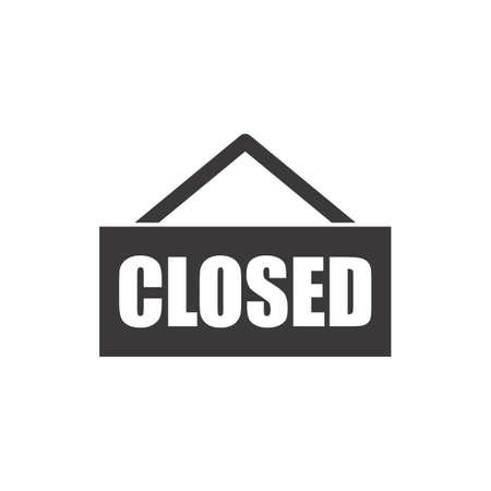 closed sign Illusztráció