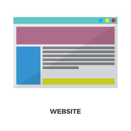 웹 사이트 일러스트