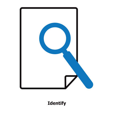 document with magnifying glass Illustration