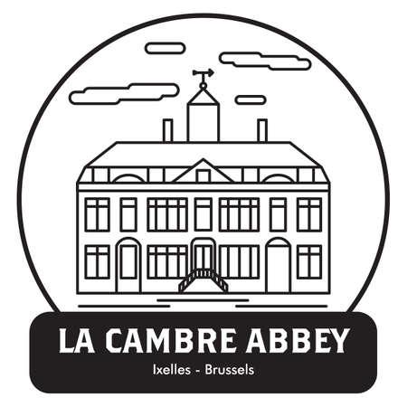 Abdij van La cambre Stock Illustratie