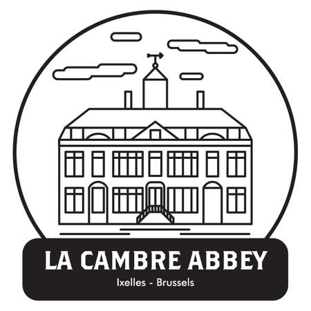 La cambre abbey Иллюстрация