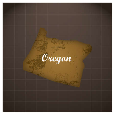 oregon state map 写真素材 - 106668226