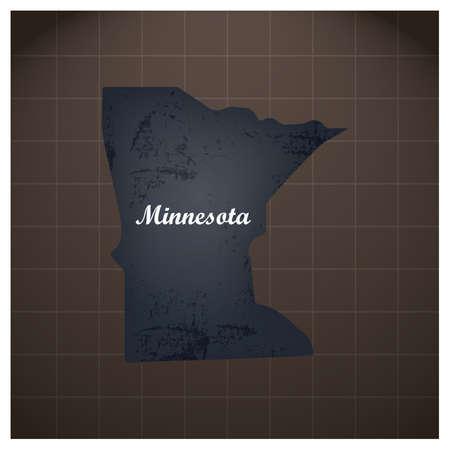 de kaart van de staat van minnesota Stock Illustratie